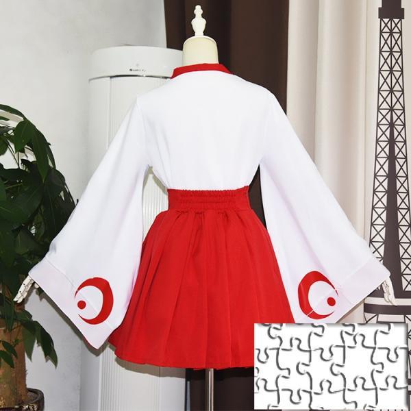 ハロウィン 仮装  みこ服  和服 コスプレ衣装 萌え 上着+スカート+ストッキング+バニエ 4点セット イベント  コスチューム|srs-h|07