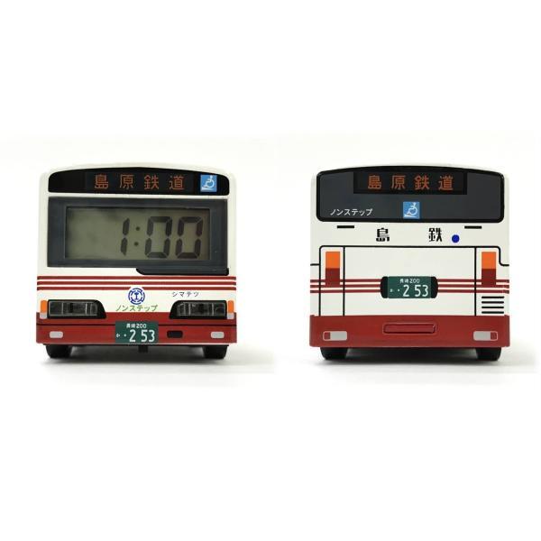 島鉄(しまてつ)バス型 目覚まし時計「乗合タイプ」 ★島原鉄道グッズ★ srshop 04
