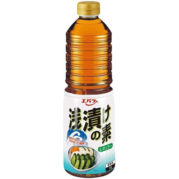 【まとめ売り】 エバラ 浅漬けの素 レギュラー 1L 1ケース 6本入