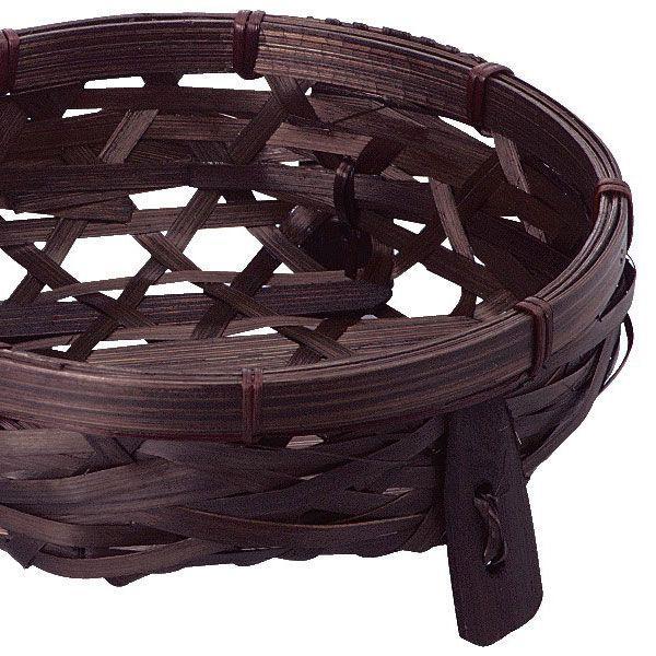 『竹』丸タイプ足付き小物入れ「14×5cm」3Pセット/2種類 sshana 03