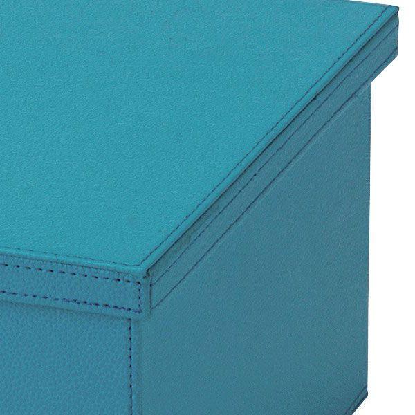 『合皮』蓋付き収納ケース(カラフル)「39×28×17cm」/7種類 sshana 04