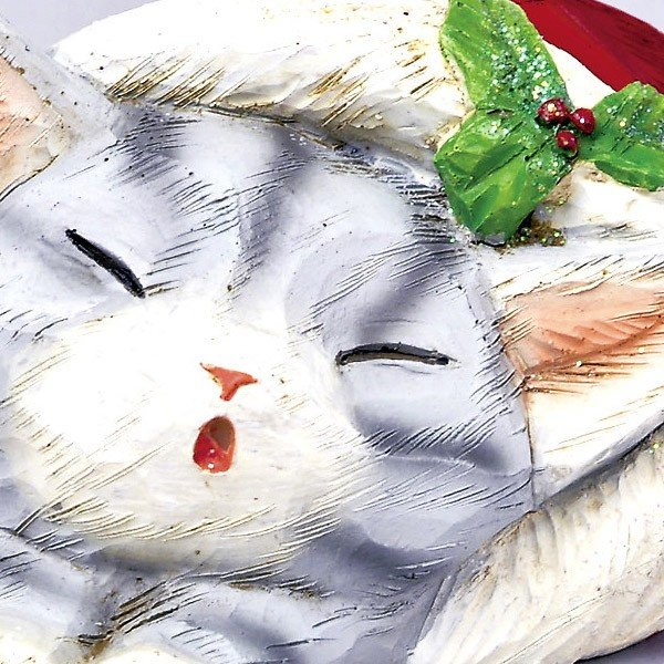 『クリスマス』レジン製カービングキャット(スリープ)/2種類|sshana|02