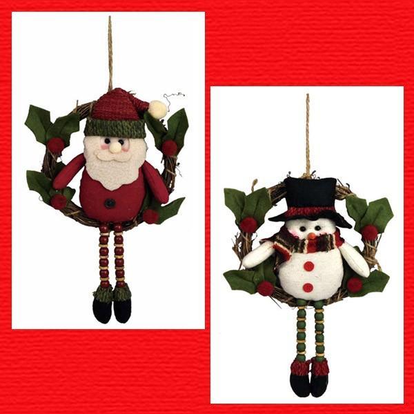 『クリスマス』足ぶらドールのリース/2種類 sshana
