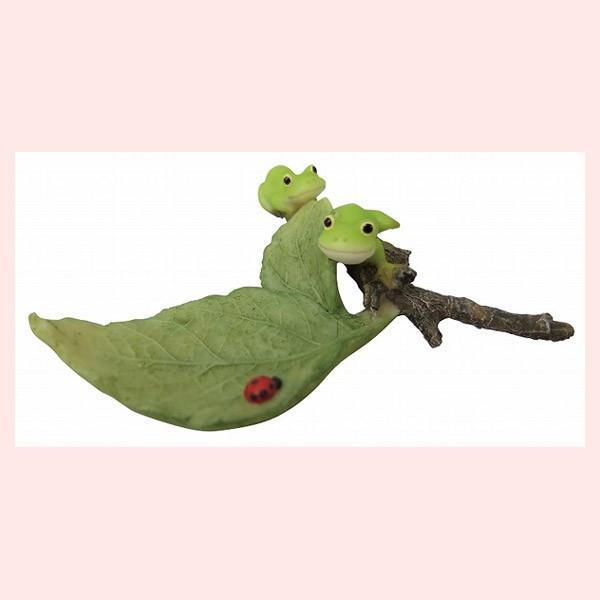 レジン製カエルのミニオブジェ(冒険)|sshana
