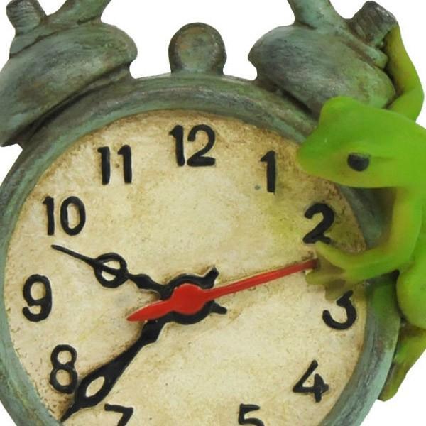 レジン製カエルのミニオブジェ(置時計)|sshana|02