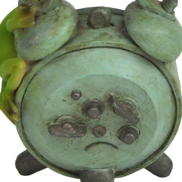 レジン製カエルのミニオブジェ(置時計)|sshana|04