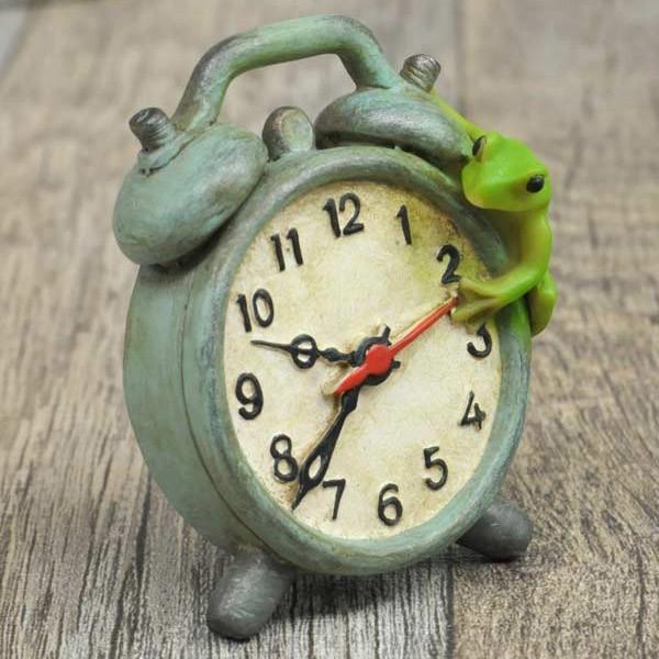 レジン製カエルのミニオブジェ(置時計)|sshana|05
