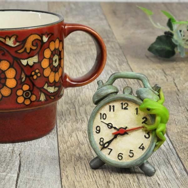レジン製カエルのミニオブジェ(置時計)|sshana|06