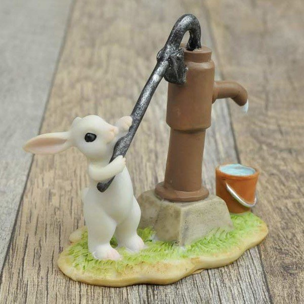 レジン製ウサギのミニオブジェ(水くみ)|sshana|03