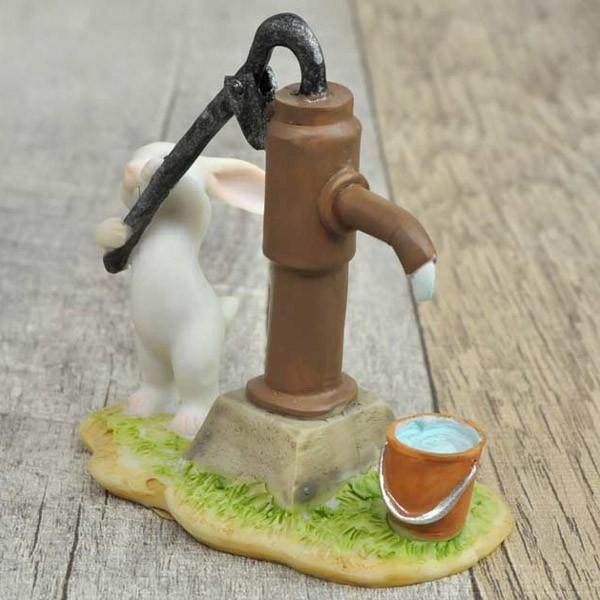 レジン製ウサギのミニオブジェ(水くみ)|sshana|04