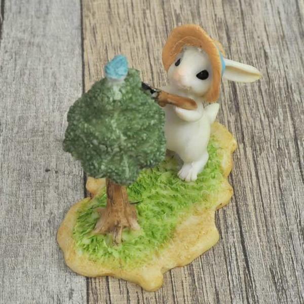 レジン製ウサギのミニオブジェ(お手入れ)|sshana|03