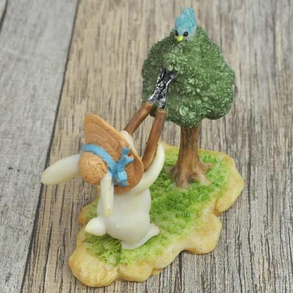 レジン製ウサギのミニオブジェ(お手入れ)|sshana|06