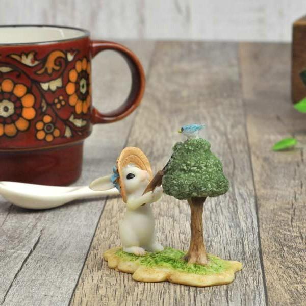 レジン製ウサギのミニオブジェ(お手入れ)|sshana|07