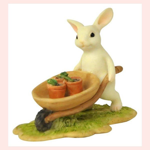 レジン製ウサギのミニオブジェ(ガーデン)|sshana