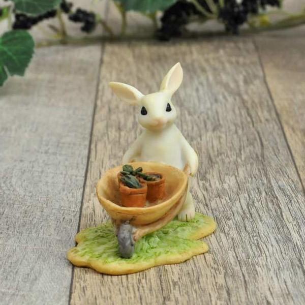 レジン製ウサギのミニオブジェ(ガーデン)|sshana|02