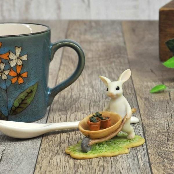 レジン製ウサギのミニオブジェ(ガーデン)|sshana|05