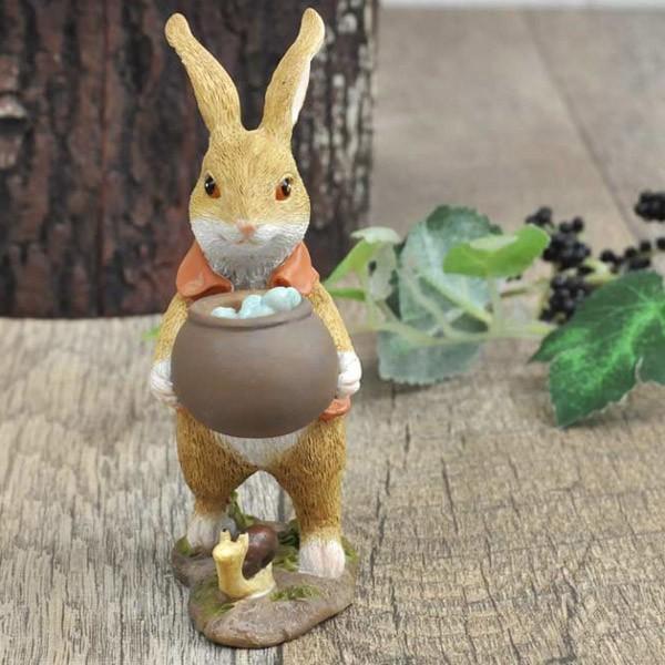 レジン製ウサギのミニオブジェ(水やり)|sshana|02