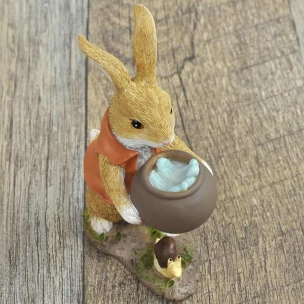 レジン製ウサギのミニオブジェ(水やり)|sshana|03