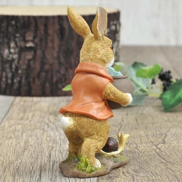 レジン製ウサギのミニオブジェ(水やり)|sshana|06