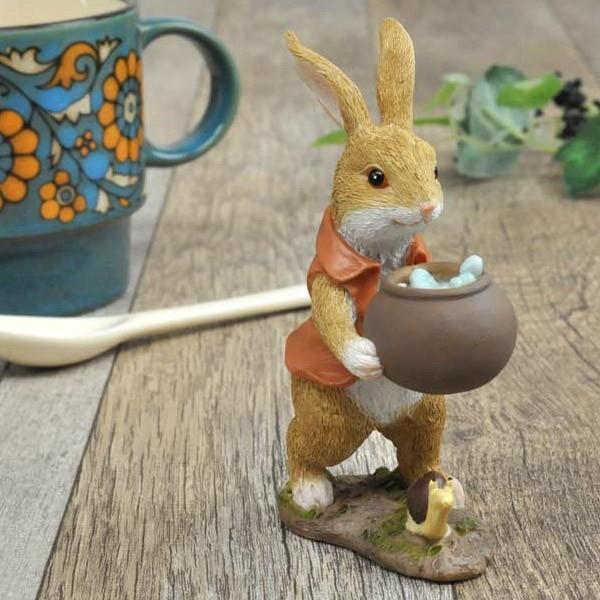 レジン製ウサギのミニオブジェ(水やり)|sshana|07