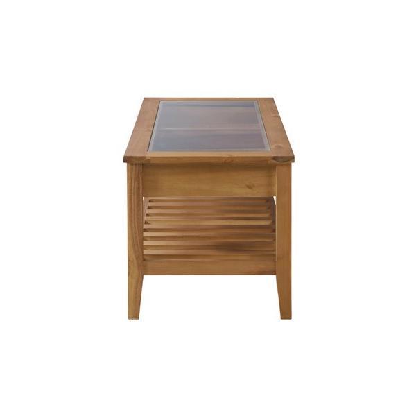 アカシア製ガラスコレクションテーブル(GT-871)|sshana|02