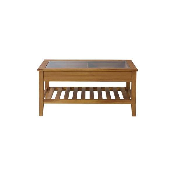 アカシア製ガラスコレクションテーブル(GT-871)|sshana|04