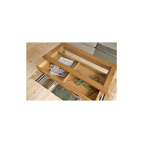 アカシア製ガラスコレクションテーブル(GT-871)|sshana|07