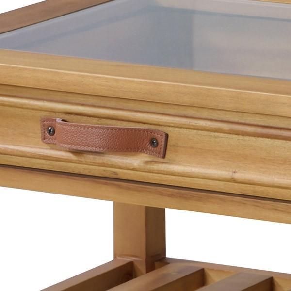 アカシア製ガラスコレクションテーブル(GT-871)|sshana|10