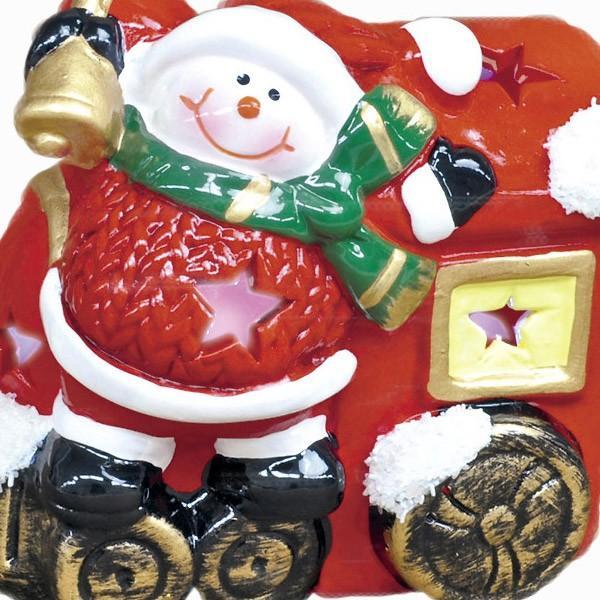 『クリスマス』陶器製LEDトレインライト/2種類|sshana|03