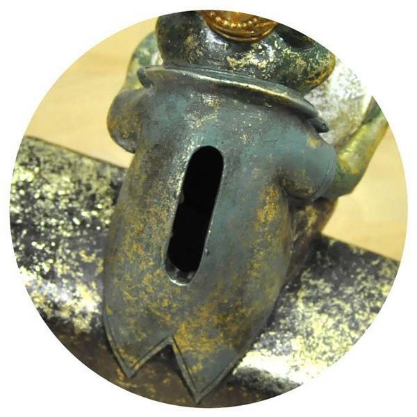 レジン製アンティーク調クラウンカエルの貯金箱|sshana|03