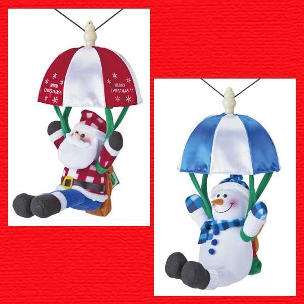 『クリスマス』音センサー式うきうきパラシュート(ロープウェイ)のおもちゃ/2種類|sshana