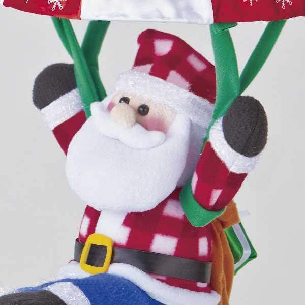 『クリスマス』音センサー式うきうきパラシュート(ロープウェイ)のおもちゃ/2種類|sshana|02
