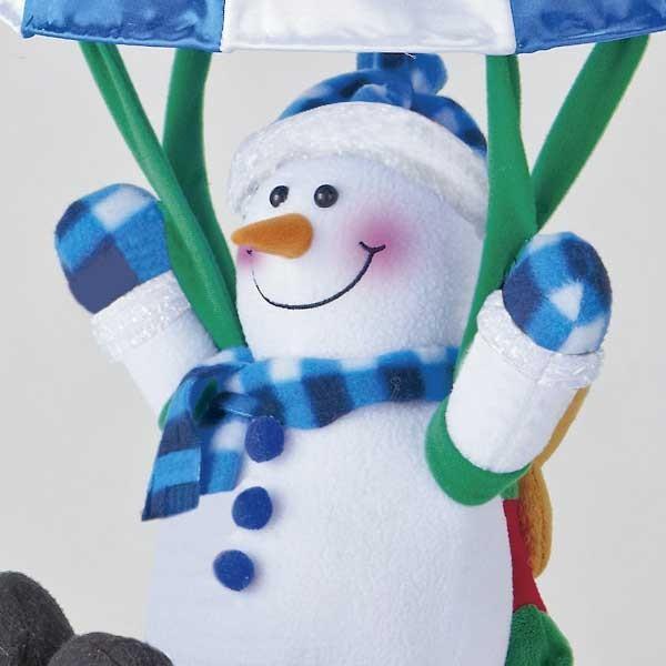 『クリスマス』音センサー式うきうきパラシュート(ロープウェイ)のおもちゃ/2種類|sshana|03
