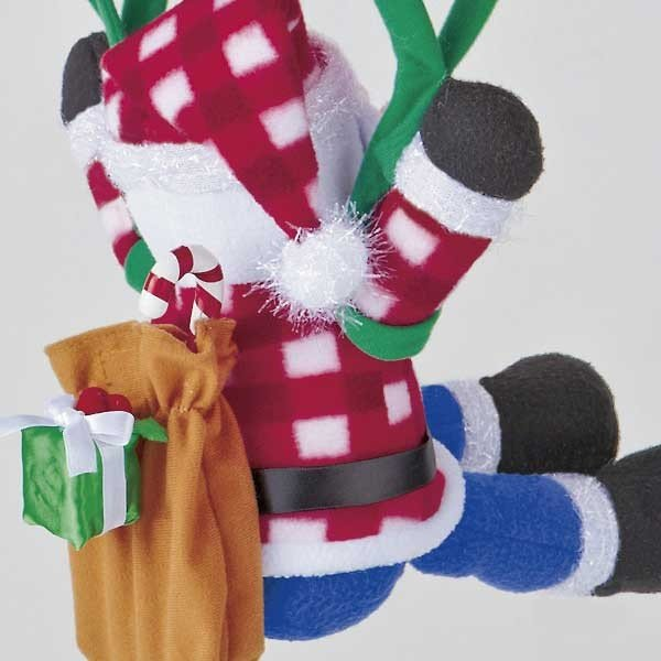 『クリスマス』音センサー式うきうきパラシュート(ロープウェイ)のおもちゃ/2種類|sshana|04