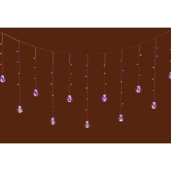 『クリスマス』LEDライトボールガーランド(リモコン付)/ミックス sshana 02