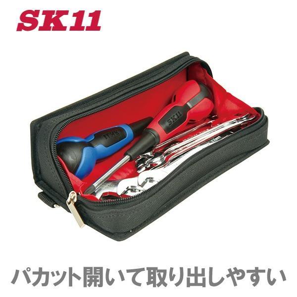 SK11 スリムツールケース S STC-SL-20 工具ボックス ツールボックス 工具バッグ 工具ケース 工具バック 工具入れ ツールバッグ パーツケース 釘袋