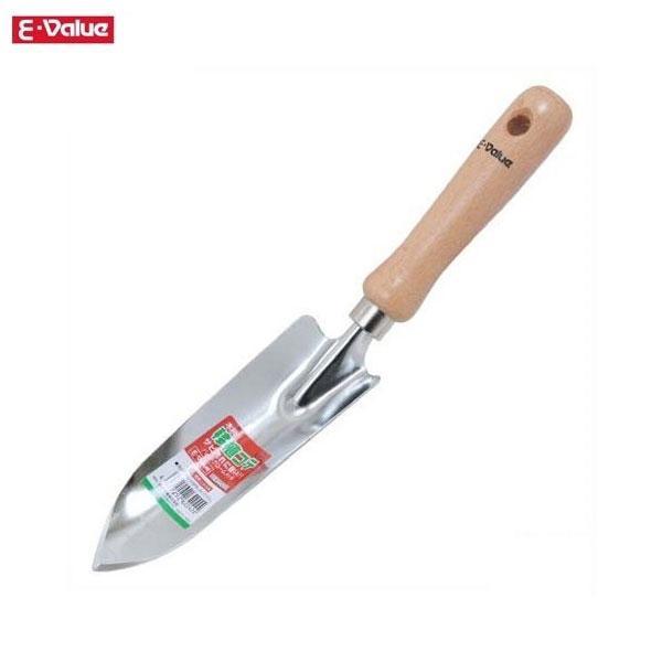 E-Value 木柄移植コテ EGT-2 穴掘り用 土すくい用 園芸用品 スコップ