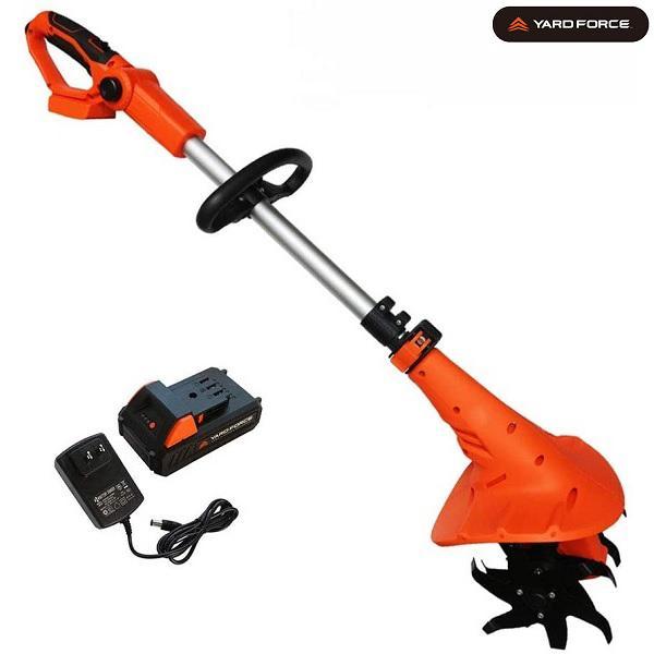 耕運機 コードレス 充電式 電動 小型 24V 家庭菜園 畑 耕うん機 YARDFORCE LEC20-JP