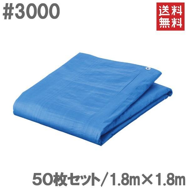ブルーシート 1.8m×1.8m 50枚セット #3000 厚手 防水シート レジャーシート ビニールシート