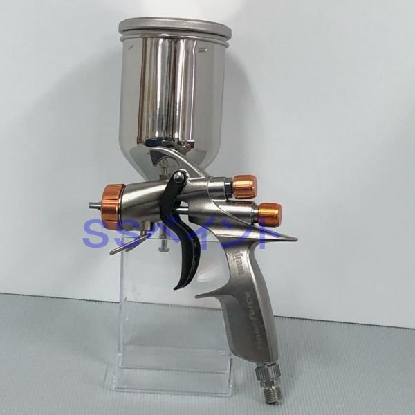 (K)明治(meiji)スプレーガン FINER-FORCE R 塗料カップ4GF-Uセット 重力式 ノズル口径:1.4mm