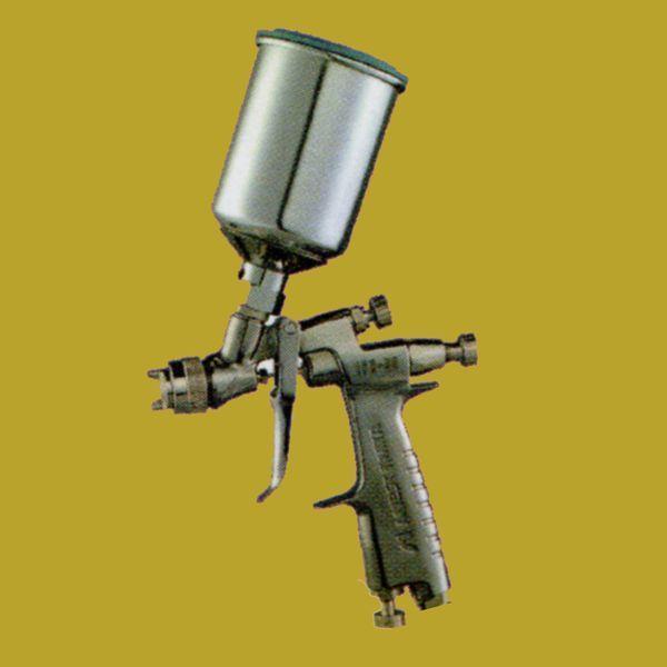 (K)アネスト岩田(イワタ)スプレーガン LPH-80-104G+PCG-2D-1 重力式 ノズル口径:1.0mm  150mlセンター塗料カップ付きセット