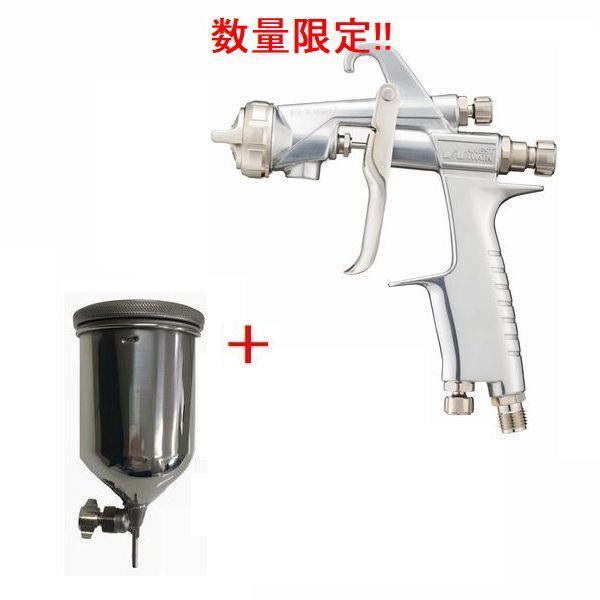 (数量限定)(K)アネスト岩田(イワタ)スプレーガン WIDER1-13K1G 重力式 ノズル口径:1.3mm 400ml塗料カップPC-400SB-2LF付きセット
