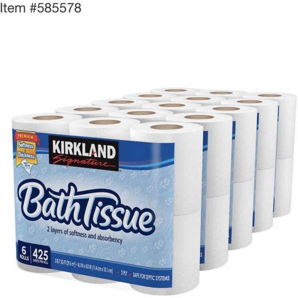 KIRKLAND カークランド シグネチャートイレットペーパー(バス ティッシュ)2枚重ね30ロール|ssrainbows