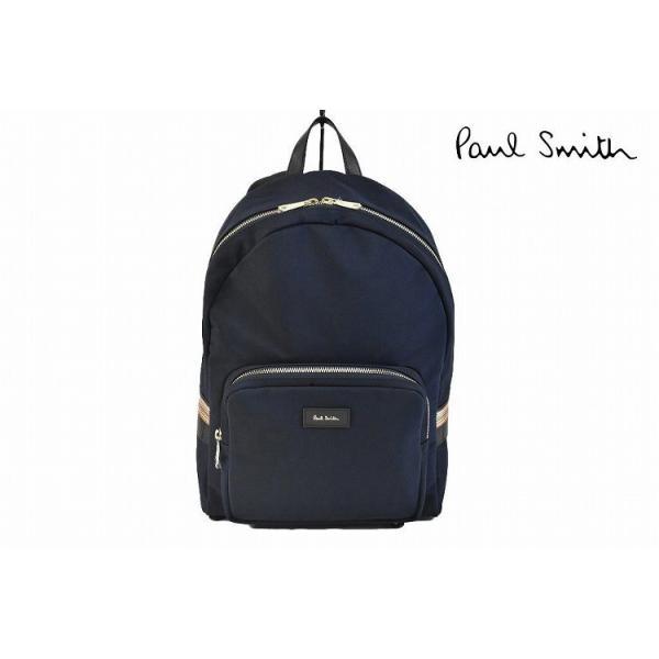 ポールスミス リュック バッグ メンズ ブランド Paul Smith STアクセント 紺 ネイビー 男性 紳士 PSN516 送料無料