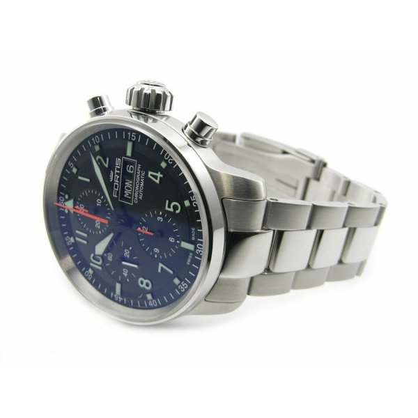 1841daed84 ... フォルティス 腕時計 フリーガープロ クロノグラフ 705.21.11M 国内正規品 ssshokai  ...