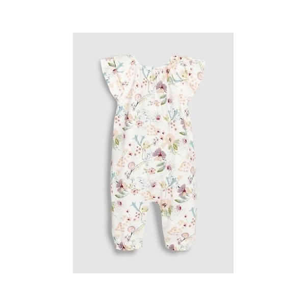 ネクスト ベビー NEXT エクリュ フローラル ジャージー ロンパース 半袖 ボディスーツ 総柄 花柄 子供服 ベビー服 パジャマ 女の子 新生児 ベビーウェア おでか|ssshop