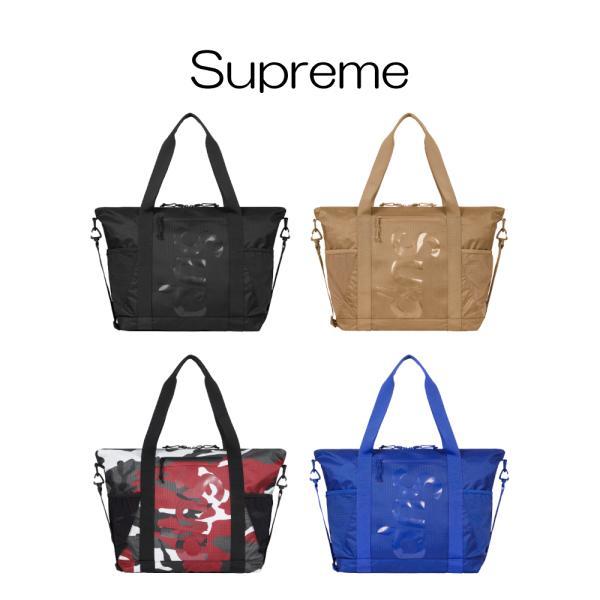 正規品シュプリームSupreme2021SSZipToteBlack4カラーブラックタンレッドカモブルートートバッグジップ鞄メン