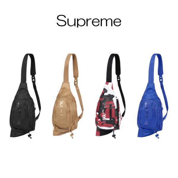 正規品シュプリームSupreme2021SSSlingBagBlack4カラーブラックタンレッドカモブルースリングバッグショルダ