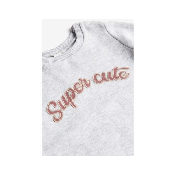 ネクスト ベビー NEXT グレー Super Cute スウェット スリープウェア カバーオール ロンパース 長袖 パジャマ 足つき ベビー服 女の子 男の子 ユニセックス 新生|ssshop|04