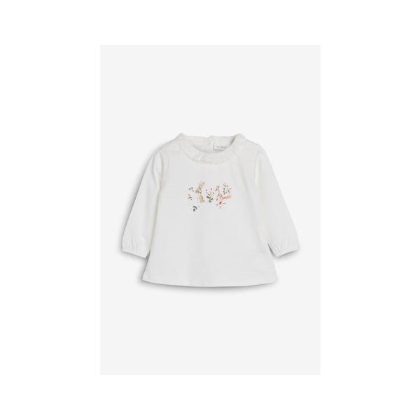 ネクスト ベビー NEXT エクリュ / ピンク ウサギ柄 長袖 Tシャツ & レギンス & ヘアバンド セット 総柄 花柄 上下セット 子供服 ベビー服 女の子 新生児|ssshop|03